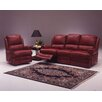 <strong>Omnia Furniture</strong> Morgan 4 Seat Sofa Leather Living Room Set