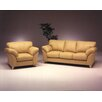 <strong>Omnia Furniture</strong> Nevada 3 Seat Leather Living Room Set