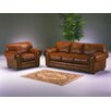 <strong>Omnia Furniture</strong> Cheyenne 3 Seat Leather Sofa Set