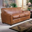 Omnia Furniture Jackson Leather Sleeper Sofa