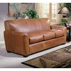 Omnia Furniture Jackson Leather Loveseat