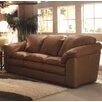 Omnia Furniture Oregon Leather Loveseat