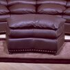 Williamsburg Jumbo Leather Ottoman