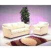 Omnia Furniture Salerno 4 Seat Leather Living Room Set