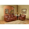 Omnia Furniture Great Texas 3 Seat Leather Sofa Set