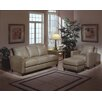Omnia Furniture Skyline 3 Seat Leather Sofa Set