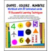 Natural Learning Concepts Shapes, Colors and Numbers Workbook with Cards