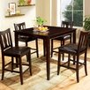Hokku Designs Petite 5 Piece Counter Height Dining Set