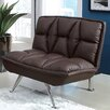 <strong>Hokku Designs</strong> Leland Leathrette Convertible Chair and Ottoman