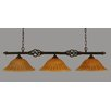 Toltec Lighting Elegante 3 Light Kitchen Island Pendant