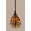 <strong>Toltec Lighting</strong> Stem Mini Pendant With Hang Straight Swivel