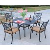 <strong>Kingston 5 Piece Dining Set</strong> by Meadow Decor