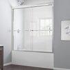 """Dreamline Duet 56 to 59"""" Frameless Bypass Sliding Tub Door, Clear 5/16"""" Glass Door"""