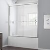 "Dreamline Duet 59"" W x 58"" H Frameless Bypass Sliding Tub Door"