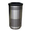 Witt Stadium Series 35 Gallon Perforated Receptacle in Stainless Steel