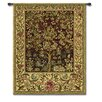 Fine Art Tapestries Classical Tree of Life Ruby Small by William Morris Tapestry
