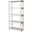 "Sterilite 75.03"" H 5 Shelf Shelving Unit Starter"
