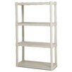 "Sterilite 36"" H 4 Shelf Shelving Unit Starter"