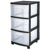 "Sterilite 24"" Storage Cart (Set of 2)"