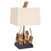 "Van Teal Boscage Palm Bristle Bunch 28"" H Table Lamp with Rectangle Shade"
