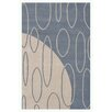 Noble House Aria Blue Shag Area Rug