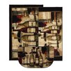 Mohawk Home New Wave Wine and Glasses Area Rug (Set of 3)