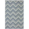 Mohawk Home Patio Blue Pool Zig Zag Outdoor Area Rug