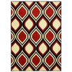 Mohawk Home Woodgrain Stylin Ogee Red/Yellow Area Rug