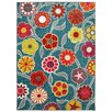 Mohawk Home Woodgrain Flower Medallions Red Area Rug