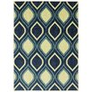 Mohawk Home Woodgrain Stylin Ogee Blue/Yellow Area Rug