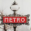 Design Toscano Paris Metro Sign Photographic Print