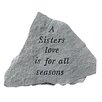 <strong>Design Toscano</strong> A Sisters Love...Cast Stone Memorial Garden Marker Stepping Stone