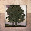 Design Toscano Image of the Forest Dimensional Tree Silhouette II Plaque