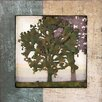 Design Toscano Image of the Forest Dimensional Tree Silhouette III Plaque