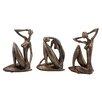 Design Toscano 3 Piece Angular Energy Nude Woman Figurine Set