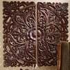 Design Toscano 2 Piece Carved Rosette Architectural Wall Décor Set
