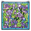 <strong>Design Toscano</strong> Saint-Remy Irises Stained Glass Window