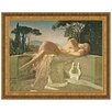 <strong>Design Toscano</strong> Girl in a Basin, 1845 by Paul Delaroche Framed Painting Print