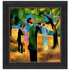 <strong>Design Toscano</strong> Lady in a Green Jacket, 1913 by August Macke Framed Painting Print