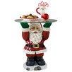 <strong>Design Toscano</strong> Santa Claus Sculptural Glass-Topped Holiday Table