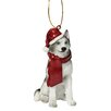 <strong>Design Toscano</strong> Siberian Huskey Holiday Dog Ornament Sculpture