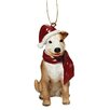 Pitbull Holiday Dog Ornament Sculpture