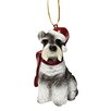 <strong>Design Toscano</strong> Mini Schnauzer Holiday Dog Ornament Sculpture