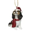 <strong>Design Toscano</strong> Charles Cavalier Holiday Dog Ornament Sculpture