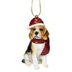 <strong>Design Toscano</strong> Beagle Holiday Dog Ornament Sculpture