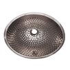 Whitehaus Collection Decorative Undermount Oval Ball Pein Bathroom Sink