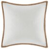 <strong>Madison Park</strong> Linen with Jute Trim Square Pillow