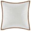 Madison Park Linen with Jute Trim Square Pillow