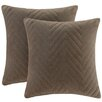 Madison Park Cotton Velvet Square Pillow (Set of 2)