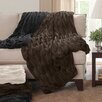 Madison Park Ruched Fur Cotton Throw Blanket
